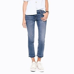 Current/Elliott Cropped Straight Leg Undone Hem 26